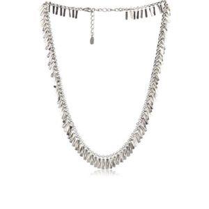 House of Harlow 1960 Pyramid Fringe Bar Necklace